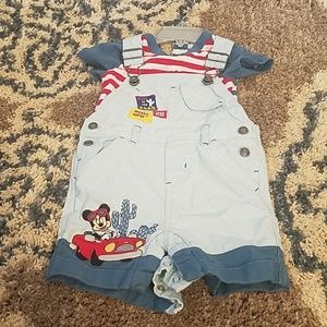 Adorable Mickey mouse jean jumper. Only worn once!